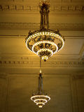 Chandeliers at the Grand Central Terminal, NYC Royalty Free Stock Image