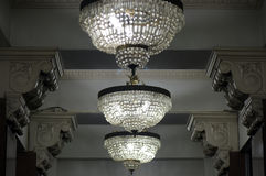 Chandeliers of hall of the Martinelli Building in São Paulo Stock Image