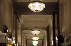 Chandeliers of hall of the Martinelli Building in São Paulo Stock Images