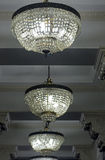 Chandeliers of hall of the Martinelli Building in São Paulo Royalty Free Stock Images