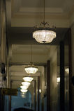 Chandeliers of hall of the Martinelli Building in São Paulo Stock Photography