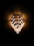 Chandeliers lamp. In the  black background Stock Photography