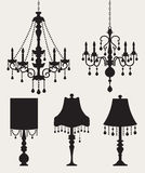 Chandeliers and Lamps Stock Photo