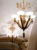 Chandeliers in Moscow metro Royalty Free Stock Image