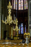 Chandeliers Reims Cathedral Stock Photography