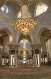 Chandeliers in the Sheikh Zayed Mosque. Abu Dhabi. UAE. Royalty Free Stock Images