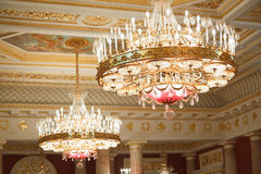 Chandeliers of State historical museum Royalty Free Stock Photos