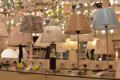 Chandeliers in the store Stock Image