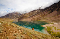 Chandertal lake in Spiti Royalty Free Stock Photo