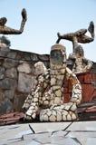 Chandigarh, Ινδία - 4 Ιανουαρίου 2015: Αγάλματα βράχου στον κήπο βράχου σε Chandigarh, Ινδία Στοκ εικόνα με δικαίωμα ελεύθερης χρήσης