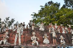 Chandigarh, India - January 4, 2015: Rock statues at the rock garden in Chandigarh, India. Stock Photography