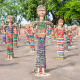 Rock Garden, Chandigarh. CHANDIGARH, INDIA - NOVEMBER 04, 2015: Sculptures at the Rock Garden of Chandigarh, it is a sculpture garden in Chandigarh, India Stock Image