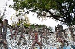 Chandigarh India, Styczeń, - 4, 2015: Rockowe statuy przy rockowym ogródem w Chandigarh obrazy stock