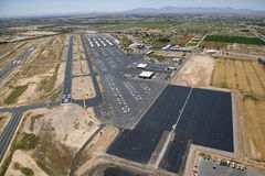 Chandler Airport. Pilot view of runways and parking with new pavement at Chandler Airport Royalty Free Stock Photos