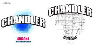 Chandler, Arizona, dwa logo grafiki Obraz Stock