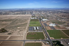 Chandler Business and Freeways. Taking over former acres of farmland royalty free stock photography