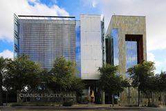 Chandler City Hall em Chandler, o Arizona foto de stock royalty free