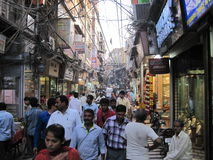 Chandni Chowk market in Delhi Royalty Free Stock Image
