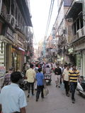 Chandni Chowk market in Delhi Royalty Free Stock Photo