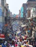 Chandni Chowk marknad i New Delhi, Indien Royaltyfri Bild
