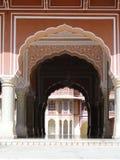 Chandra玛哈尔在城市宫殿,斋浦尔,印度。 免版税库存图片