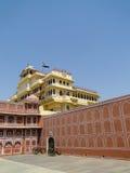 Chandra玛哈尔在城市宫殿,斋浦尔,印度。 库存照片
