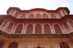Chandra玛哈尔在斋浦尔市宫殿,印度 免版税库存照片