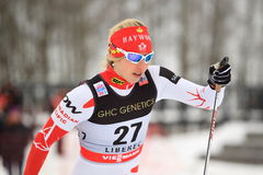 Chandra Crawford - cross country skier Royalty Free Stock Photography