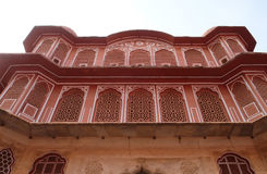 Chandra Mahal in Jaipur City Palace, India. Chandra Mahal in Jaipur City Palace, Rajasthan, India. Palace was the seat of the Maharaja of Jaipur, the head of the Royalty Free Stock Photos