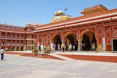 Chandra Mahal in Jaipur, Indien Lizenzfreies Stockbild