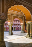 Chandra Mahal-Museum, Stadt-Palast an der rosa Stadt, Jaipur, Indien Stockbild