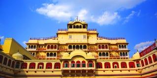 Chandra Mahal in Stadspaleis, Jaipur Royalty-vrije Stock Afbeeldingen