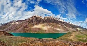 Chandra Tal lake in Himalayas Royalty Free Stock Photography