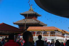 Chandragiri-Hügel, Bhaleshwor-Tempel Lizenzfreie Stockbilder