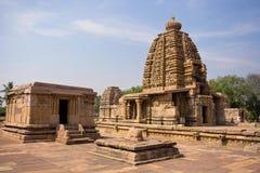 Chandrashekhara-Tempel und Galaganatha-Tempel, Pattadakal, Karnataka lizenzfreies stockfoto