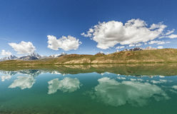 Chandrataal Lake. Also known as Lake of the Moon, is situated at an altitude of about 4,300 metres 14,100 ft in the Himalayas. The name of the lake originates Stock Photos
