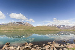 Chandrataal Lake. Also known as Lake of the Moon, is situated at an altitude of about 4,300 metres 14,100 ft in the Himalayas. The name of the lake originates Royalty Free Stock Images
