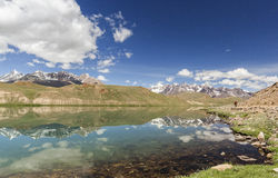 Chandrataal Lake. Also known as Lake of the Moon, is situated at an altitude of about 4,300 metres 14,100 ft in the Himalayas. The name of the lake originates Stock Image