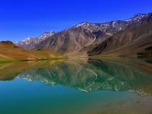 chandratal湖 图库摄影