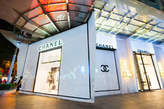 Chanel boutique display window. Ho Chi Minh, Vietnam Royalty Free Stock Image