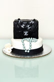 Chanel classic handbag fountain cake Stock Photo