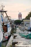 Chanel do porto de Pescara (Itália) Fotografia de Stock