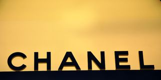 Chanel fashion logo royalty free stock photos