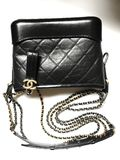 Chanel chanel gabrielle bag collection in black mini size stock photography