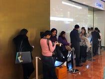 Chanel immagazzina la linea di attesa Parigi Fotografia Stock