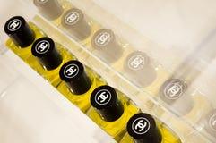 CHANEL perfume display Stock Photo