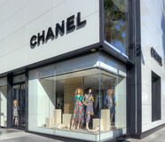 Chanel Retail Store Exterior Immagine Stock