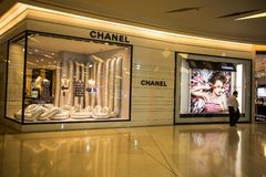 CHANEL Shop in Siam Paragon Mall, Bangkok, Thailand stock photo