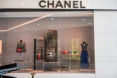 Chanel shoppar på Emquatier, Bangkok, Thailand, Mars 8, 2018 royaltyfri bild