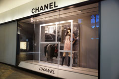Chanel store at the Ala Moana Center. HONOLULU - AUGUST 7, 2014: : Chanel store at the Ala Moana Center, Chanel is one of many luxury brands fashion company with stock images